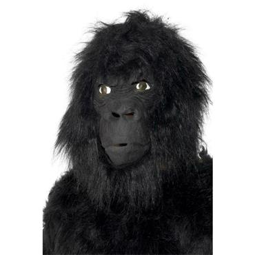 Gorilla Mask With Hair, Black