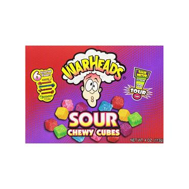 Warheads Chewy Cubes Sweets (113g) - Theatre Box