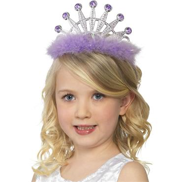 Tiara with Marabou - Assorted Colours