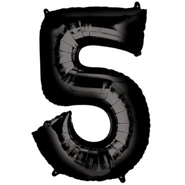 "34"" Black Number 5 Balloon"