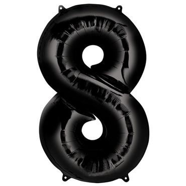"34"" Black Number 8 Balloon"