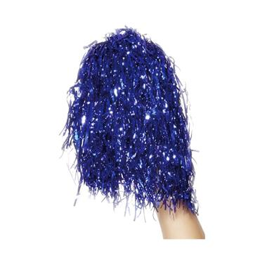 Pom Poms Metallic Blue, Pair