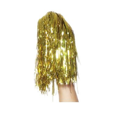 Pom Poms Metallic, Gold, Pair