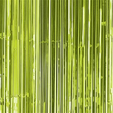 Glitter Curtain - Kiwi Green
