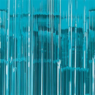 Glitter Curtain - Caribbean Blue