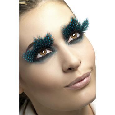 Eyelashes, Large Feather Aqua