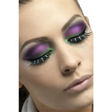Eyelashes, Blk & Green Diamant