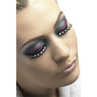 Eyelashes, Black with Stars
