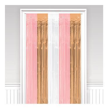 Glitter Curtain - Rose Gold Blush