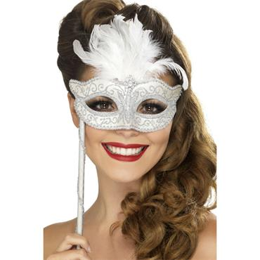 Baroque Fantasy Eyemask,Silver