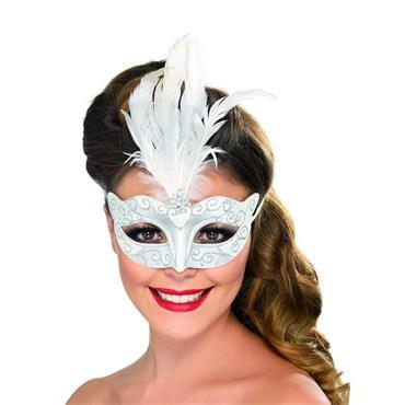 Venetian Glitter Eyemask - Silver