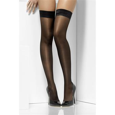 Sheer Shine Hold Ups - Black