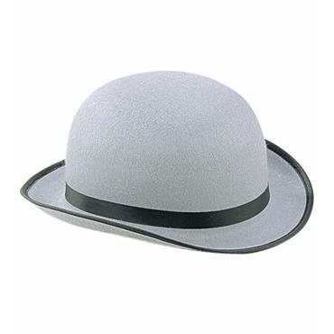 BIG GREY BOWLER HAT
