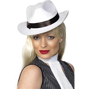 Gangster Hat - White