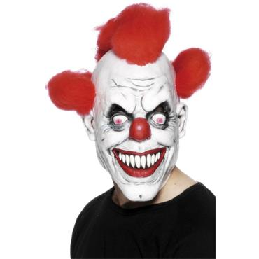 Clown 3/4 Mask, With Hair