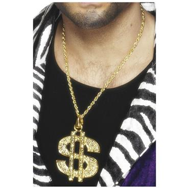 Dollar Sign Medallion, Gold, On Chain