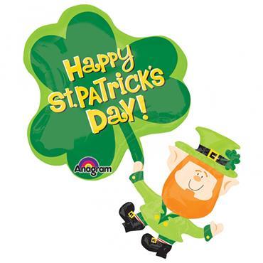 "Super Shape Foil Balloon - St Patricks Day 33"""