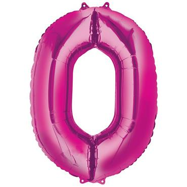 "34"" Pink Number 0 Balloon"