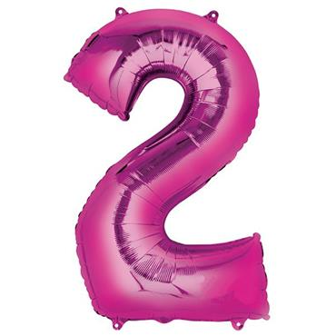 "34"" Pink Number 2 Balloon"