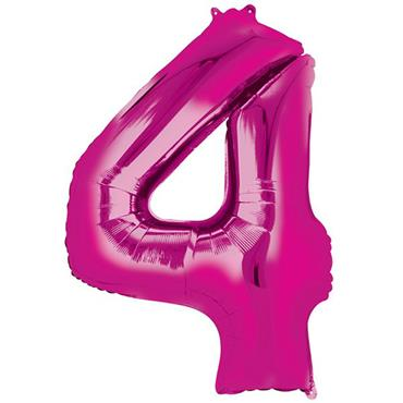 "34"" Pink Number 4 Balloon"