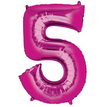 "34"" Pink Number 5 Balloon"