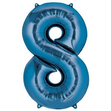 "34"" Blue Number 8 Balloon"