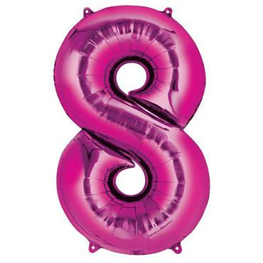 "34"" Pink Number 8 Balloon"