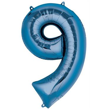 "34"" Blue Number 9 Balloon"