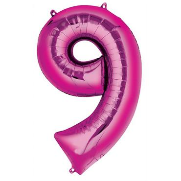 """34"""" Pink Number 9 Balloon"""