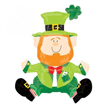 Sitting Leprechaun Foil Balloon Shape - 22""