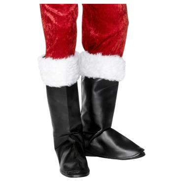 BOOT COVERS SANTA WITH FUR