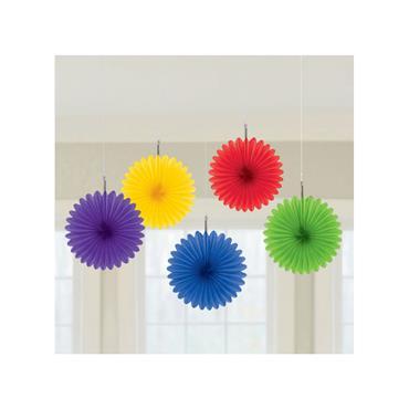 Pride Rainbow Mini Paper Fans 15cm