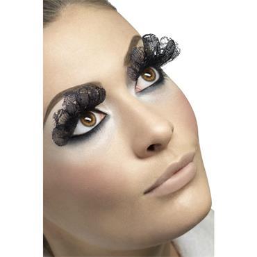 Eyelashes, Large, Black Lace