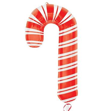 "37"" Candy Cane Supershape Foil Balloon"