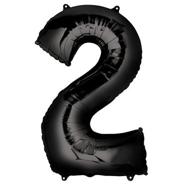 "34"" Black Number 2 Balloon"