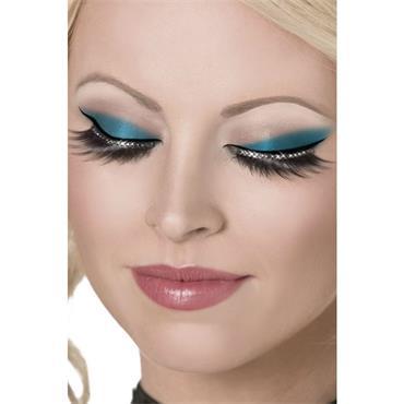Eyelashes, Glamour Black, With Crystals,