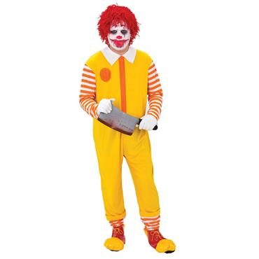 Happy Clown Jumpsuit Costume (Ronald Mc Donald)
