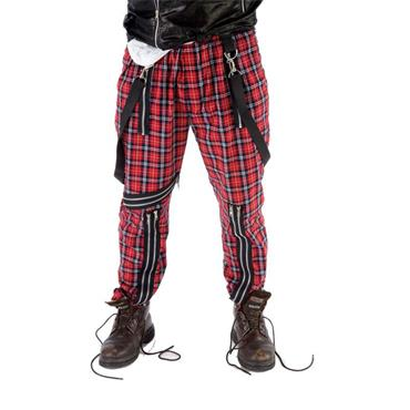 Tartan Trousers - Red/Black