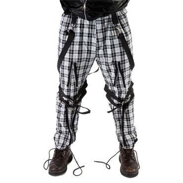Tartan Trousers - Black/White