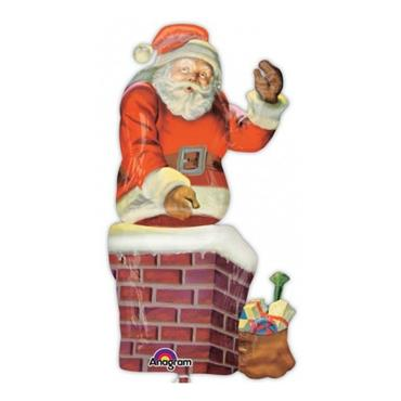 "53"" Santa & Chimney Shape Foil Balloons"