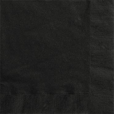 Black Lunch Napkins
