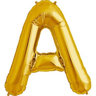 "34"" Gold Letter A Balloon"