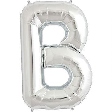 "34"" Silver Letter B Balloon"