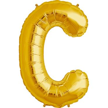"34"" Gold Letter C Balloon"
