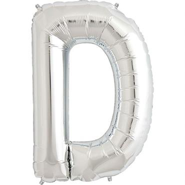 "34"" Silver Letter D Balloon"