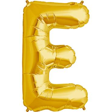 "34"" Gold Letter E Balloon"