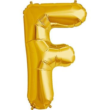 "34"" Gold Letter F Balloon"