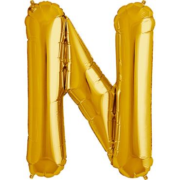 "34"" Gold Letter N Balloon"