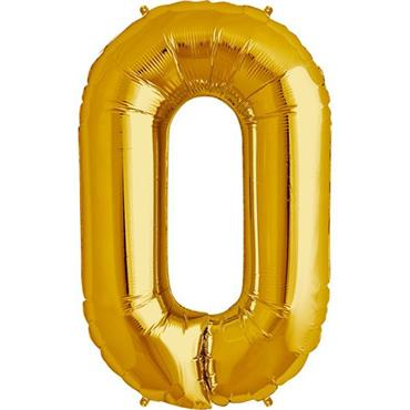 "34"" Gold Letter O Balloon"