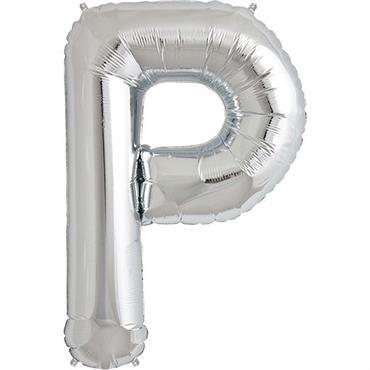 "34"" Silver Letter P Balloon"